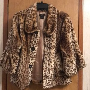 Luii Leopard Faux Fur Coat